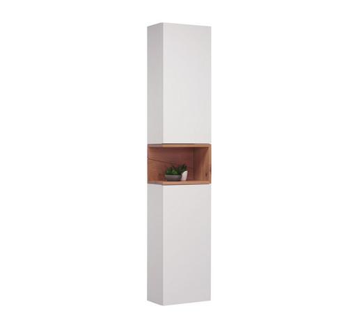 HOCHSCHRANK 35/175/20,8 cm - Eichefarben/Weiß, Design, Glas/Holz (35/175/20,8cm) - Novel
