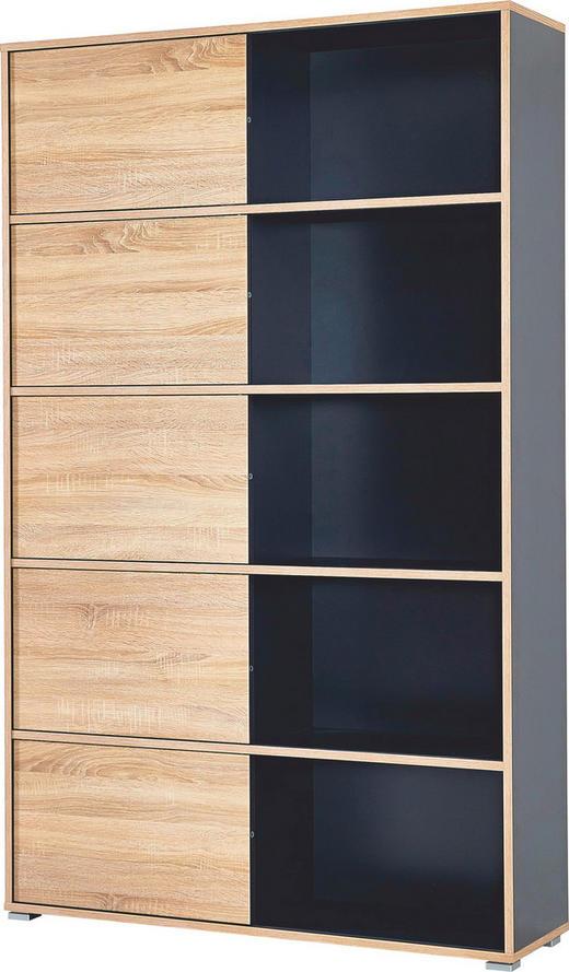 REGAL Anthrazit, Sonoma Eiche - Anthrazit/Sonoma Eiche, Design, Holzwerkstoff (120/196/35cm) - Carryhome