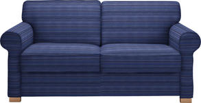SCHLAFSOFA in Textil Blau  - Blau/Buchefarben, LIFESTYLE, Holz/Textil (180/86/97cm) - Novel