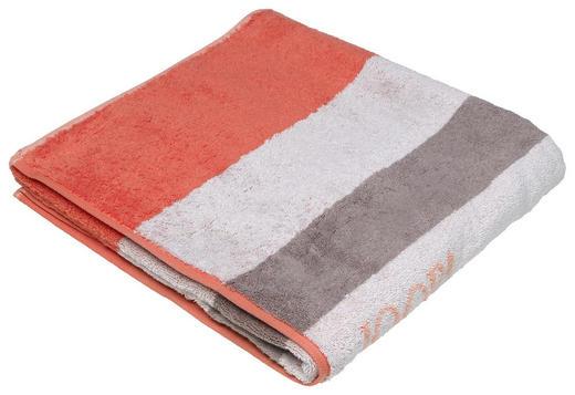 DUSCHTUCH 80/150 cm - Hellgrau/Orange, Design, Textil (80/150cm) - Joop!