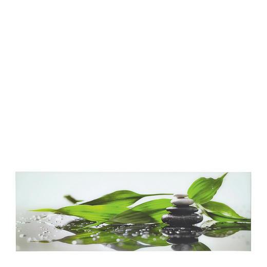 Steine, Zen GLASBILD - Multicolor, LIFESTYLE, Glas (33/98cm) - Eurographics