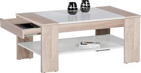 COUCHTISCH in Holzwerkstoff 100/58/44 cm   - Eichefarben/Weiß, Design, Holzwerkstoff (100/58/44cm) - Carryhome