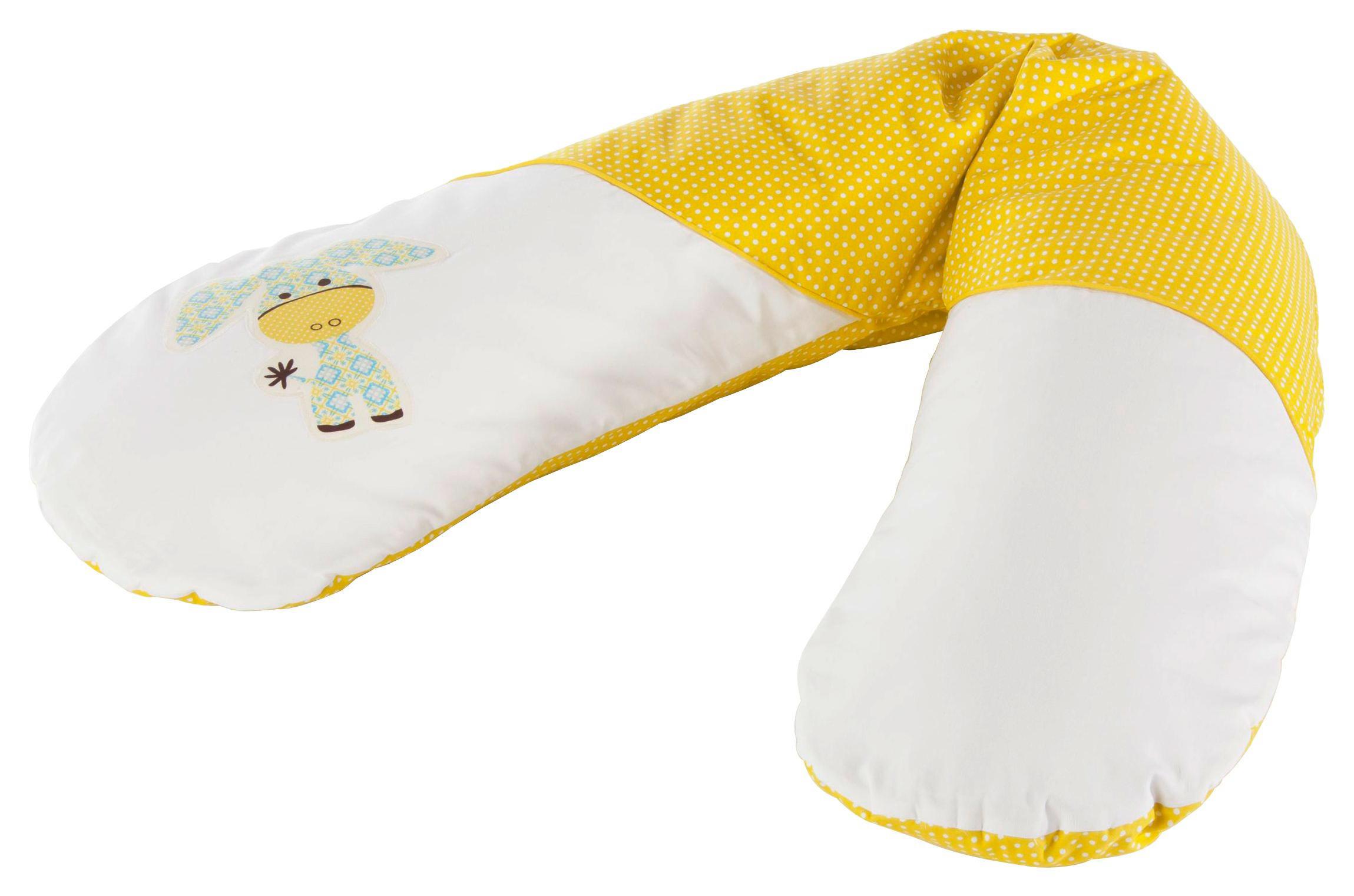 NAVLAKA ZA JASTUK ZA DOJENJE - bijela/zelena, Basics, tekstil (190cm)