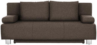 SCHLAFSOFA in Textil Braun  - Chromfarben/Braun, Design, Textil/Metall (197/88/89cm) - Xora