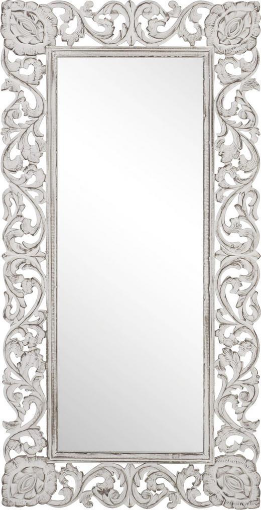 SPIEGEL Weiß - Weiß, Basics, Glas/Holzwerkstoff (75/150/2,2cm)