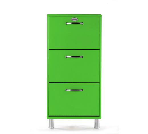 SCHUHSCHRANK lackiert, Melamin Grün  - Grün/Nickelfarben, Design, Metall (58/121/24cm) - Carryhome