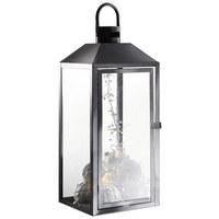 LATERNE - Klar/Schwarz, Glas/Metall (24/57/23cm) - Ambia Home