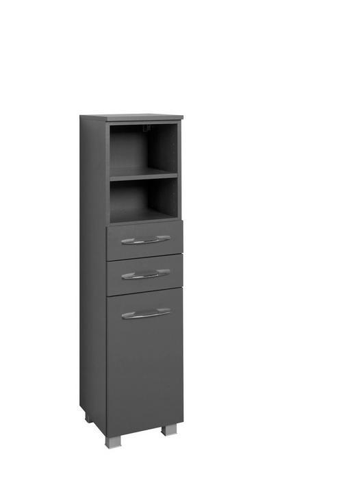 MIDISCHRANK Graphitfarben - Chromfarben/Silberfarben, Design, Holzwerkstoff/Kunststoff (30/122/35cm) - Carryhome