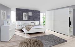 BETTANLAGE  180 cm  x  200 cm  in Holzwerkstoff, Textil Weiß - Weiß, Design, Holzwerkstoff/Textil (180/200cm) - Voleo