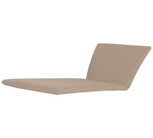 SESSELAUFLAGE in Taupe Uni - Taupe, Design, Textil (58/170cm)