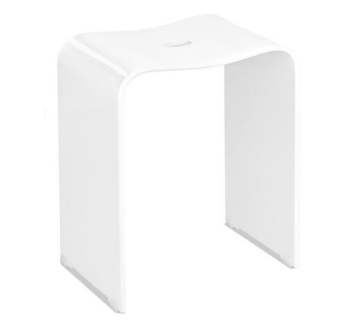 BADHOCKER Kunststoff  - Weiß, Basics, Kunststoff (40/47/27,5cm) - Sadena