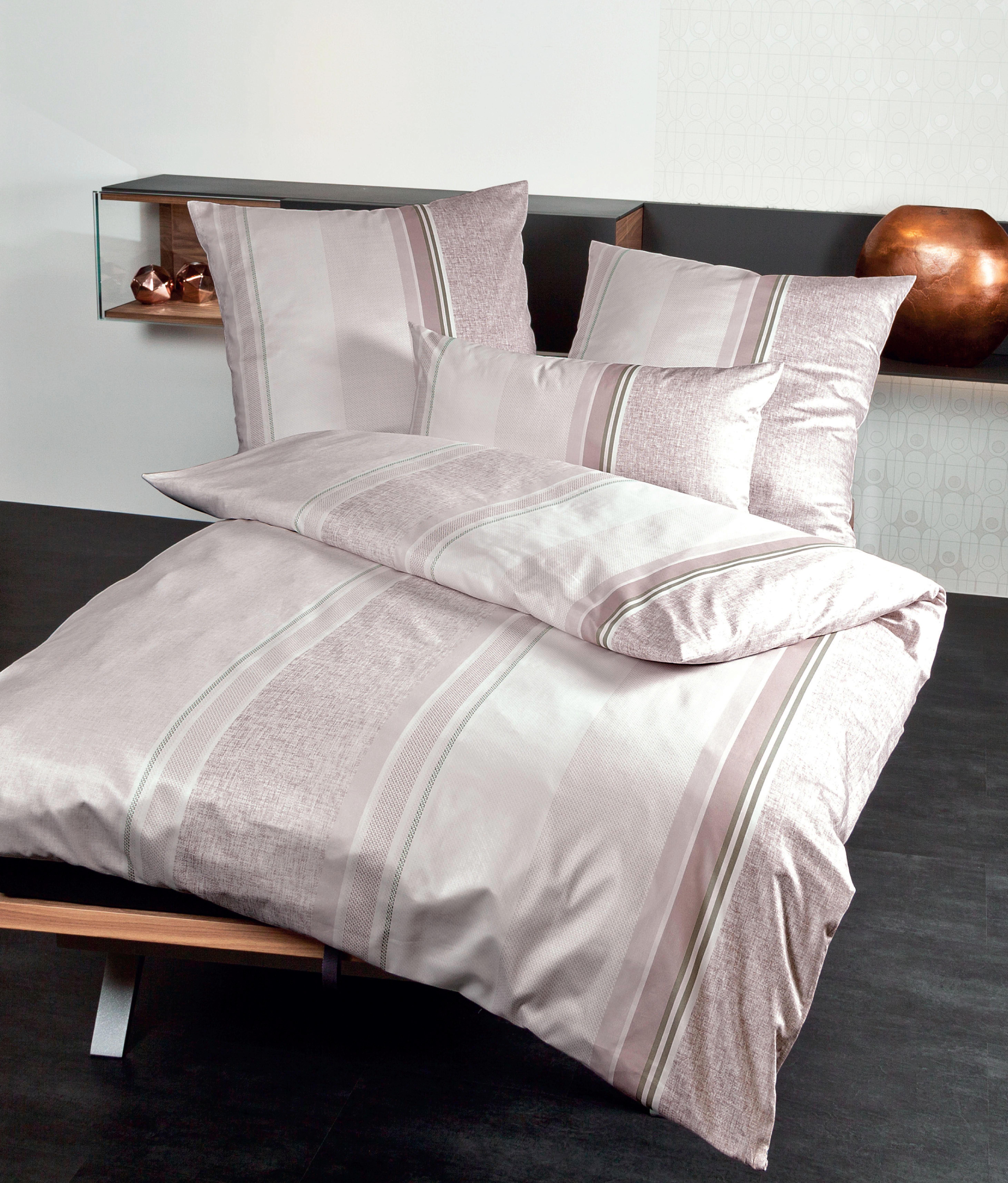 BETTWÄSCHE Makosatin Rosa 135/200 cm - Rosa, KONVENTIONELL, Textil (135/200cm) - JANINE