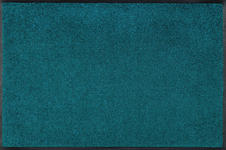 FUßMATTE 75/120 cm Uni Grün, Türkis - Türkis/Grün, Basics, Kunststoff/Textil (75/120cm) - Esposa