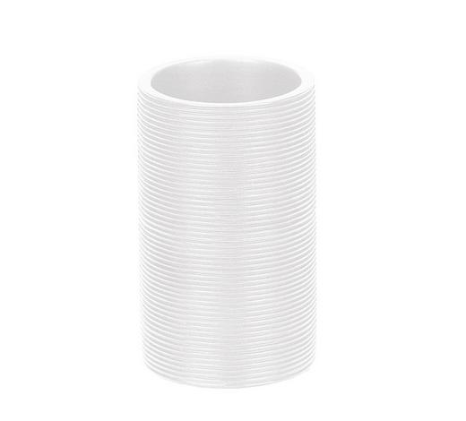 ZAHNPUTZBECHER - Weiß, Basics, Holz/Kunststoff (7,6/9,5cm) - Kleine Wolke