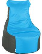 SEDACÍ PYTEL - petrolej/antracitová, Design, textil (85/100/85cm) - Boxxx