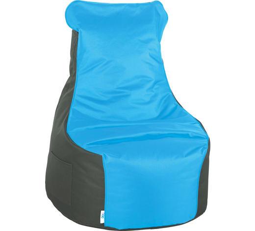SITZSACK in Textil Anthrazit, Petrol - Anthrazit/Petrol, Design, Textil (85/100/85cm) - Boxxx