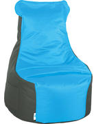 VREČA ZA SEDENJE, antracit, petrolej tekstil  - petrolej/antracit, Design, tekstil (85/100/85cm) - Xora