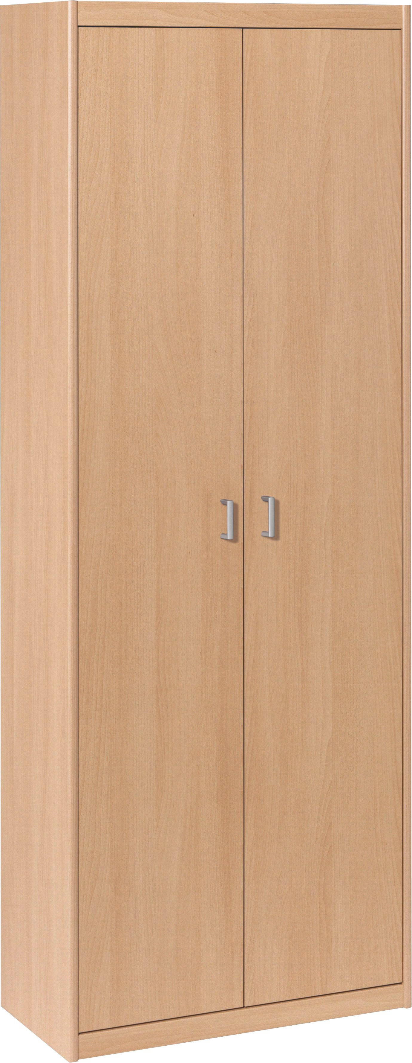 MEHRZWECKSCHRANK in Buchefarben - Buchefarben/Alufarben, KONVENTIONELL, Holzwerkstoff/Kunststoff (72/194/36cm) - CS SCHMAL