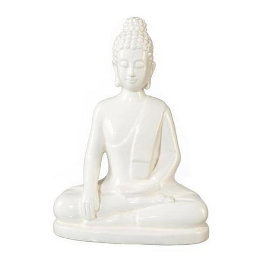 BUDDHA - Weiß, LIFESTYLE, Keramik (18/22/9,5cm)