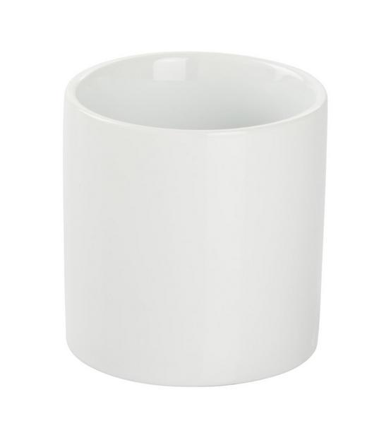 ZAHNPUTZBECHER - Weiß, Basics, Keramik (8/8cm) - Celina