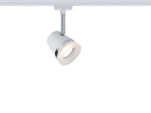 URAIL SCHIENENSYSTEM-STRAHLER - Chromfarben/Weiß, Design, Metall (18/9cm) - Paulmann