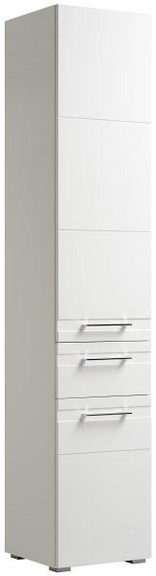 HOCHSCHRANK Weiß - Chromfarben/Silberfarben, KONVENTIONELL, Glas/Holzwerkstoff (38/192/38cm) - Xora
