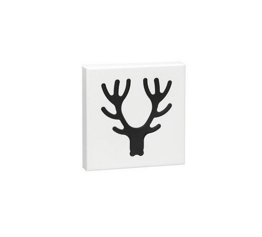 VJEŠALICA ZIDNA - bijela/crna, Design, metal (17,7/17,7/2,8cm) - Boxxx