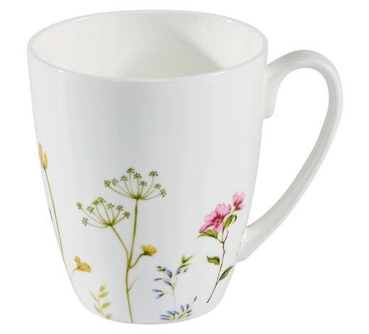 LONČEK ZA KAVO WILDFLOWER - bela/večbarvno, Basics, keramika (8,5/10cm) - Novel
