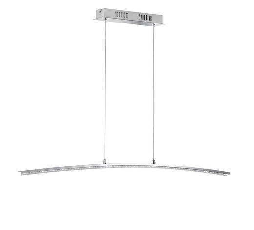 LED-HÄNGELEUCHTE - Chromfarben, Design, Kunststoff/Metall (100/150cm)