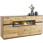 SIDEBOARD 180/85/42 cm  - Eichefarben/Anthrazit, KONVENTIONELL, Holz/Metall (180/85/42cm) - Linea Natura