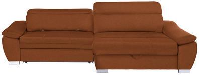 WOHNLANDSCHAFT in Textil Orange  - Silberfarben/Orange, MODERN, Kunststoff/Textil (270/175cm) - Carryhome