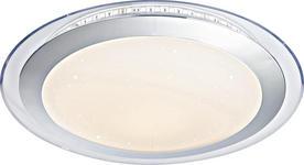 LED-DECKENLEUCHTE   - Chromfarben/Opal, Trend, Kunststoff/Metall (42,5cm) - Novel