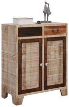 SCHUHSCHRANK 80/100/40 cm - Hellbraun/Anthrazit, LIFESTYLE, Holz/Keramik (80/100/40cm) - Landscape