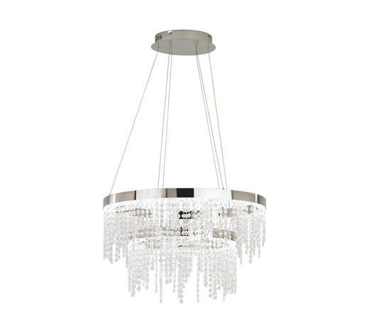 LED-HÄNGELEUCHTE - Klar/Chromfarben, Design, Glas/Metall (61/150cm)