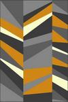 WEBTEPPICH  120/170 cm  Beige, Dunkelgrau, Grau, Orange - Dunkelgrau/Beige, Trend, Textil (120/170cm) - Boxxx