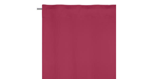 FERTIGVORHANG black-out (lichtundurchlässig)  - Dunkelrot, Basics, Textil (140/300cm) - Esposa