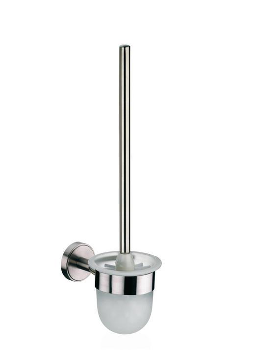 WC-BÜRSTENGARNITUR - Edelstahlfarben, Basics, Kunststoff/Metall (12/43cm) - Kela