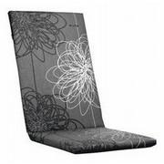 SESSELAUFLAGE Blume - Grau, Design, Textil (50/4/123cm) - Kettler HKS