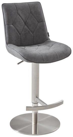 BARPALL - grå/rostfritt stål-färgad, Design, metall/textil (44/86,5-110,5/54,5cm) - Novel