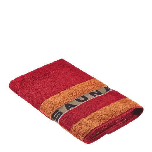 SAUNATUCH 80/200 cm - Orange, Basics, Textil (80/200cm) - Cawoe