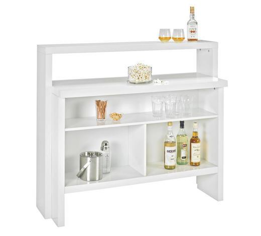 BARSKI ELEMENT - bijela, Design, drvni materijal (130/110/50cm) - Xora