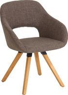 STUHL Wildeiche massiv Braun, Eichefarben - Eichefarben/Braun, Design, Holz/Textil (62/80/60cm) - VALNATURA