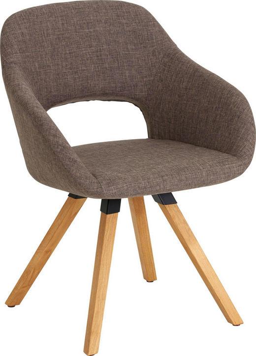 STUHL in Holz, Textil Braun, Eichefarben - Eichefarben/Braun, Natur, Holz/Textil (62/80/60cm) - Valnatura