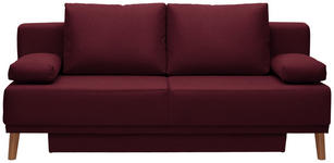 SCHLAFSOFA in Textil Bordeaux  - Bordeaux/Naturfarben, Design, Holz/Textil (192/92/90cm) - Novel