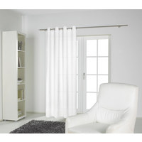 ÖSENVORHANG blickdicht - Weiß, Natur, Textil (135/245cm) - Novel