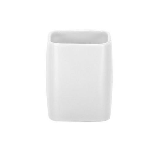ZAHNPUTZBECHER - Weiß, Basics, Keramik (7,6/9,5cm) - Kleine Wolke