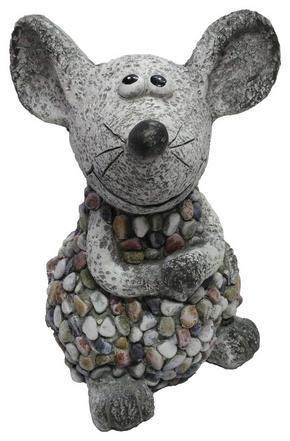 DEKORATIONSMUS - brun/grå, Lifestyle, sten (21/20/31cm)