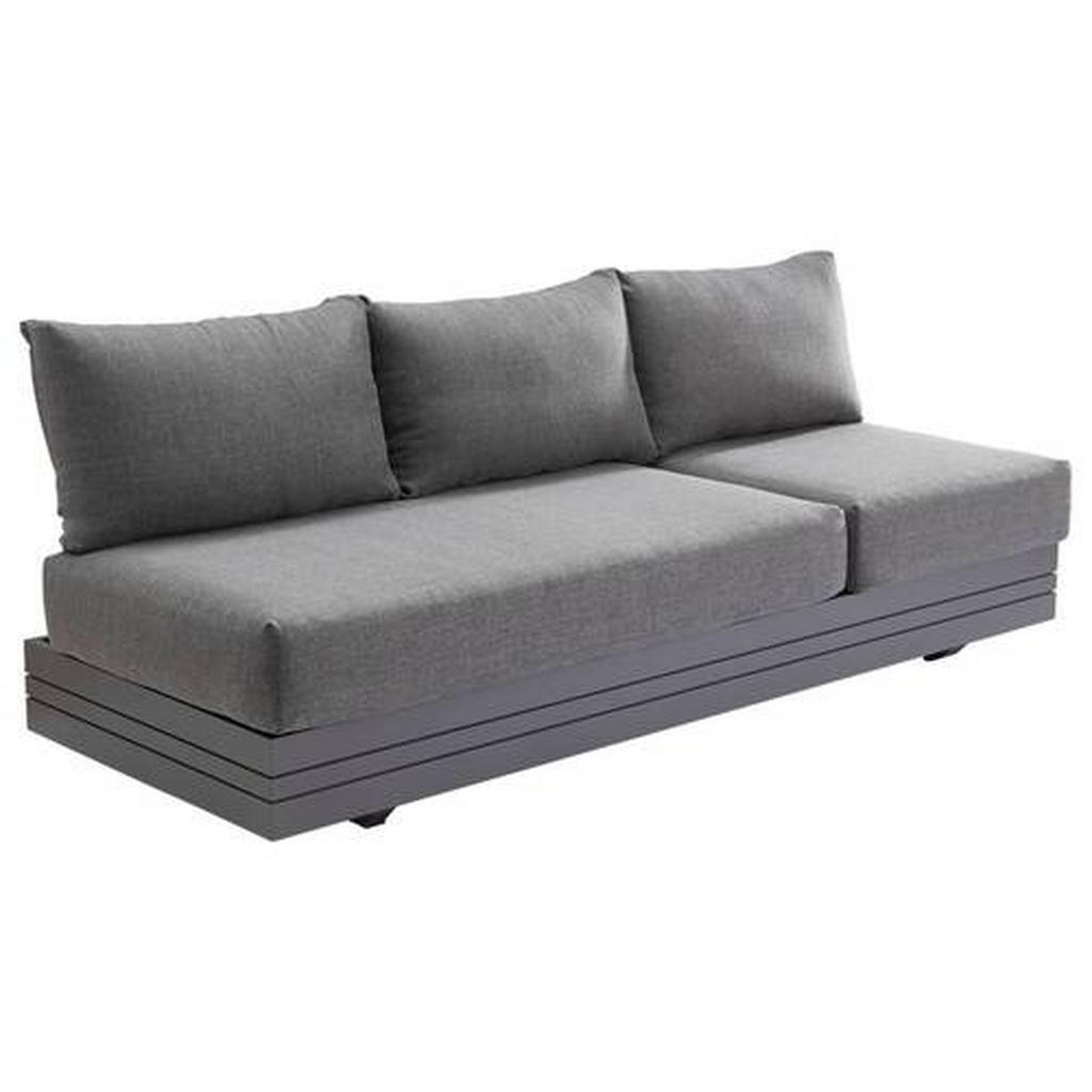 Zebra Süd Loungesofa aluminium