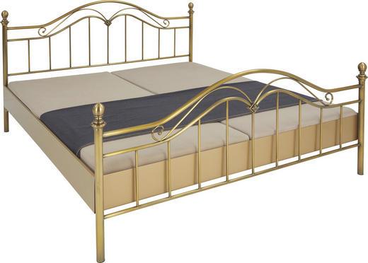 BETT 180/200 cm - Messingfarben/Bronzefarben, KONVENTIONELL, Metall (180/200cm)