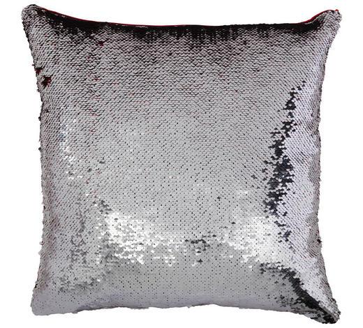 ZIERKISSEN 40/40 cm  - Rot/Silberfarben, Design, Kunststoff/Textil (40/40cm) - Novel